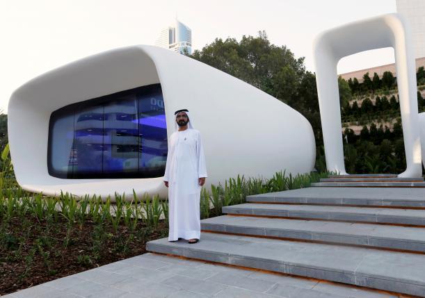 رونمایی از اولین ساختمان ساخته شده با چاپگر سه بعدی دنیا در دبی