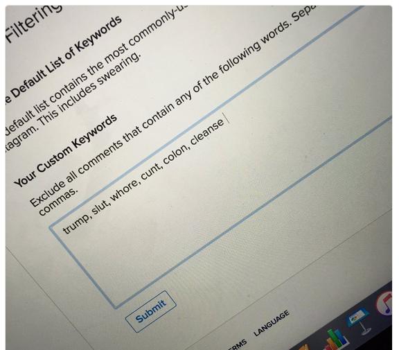 اینستاگرام قابلیت فیلتر کردن کامنت های توهین آمیز را عرضه کرد